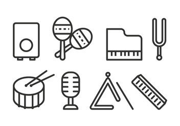 Free Music Instrument Icons - Kostenloses vector #425427