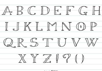 Hand Drawn Sketchy Alphabet Collection - vector #425447 gratis