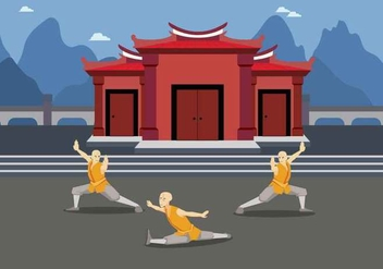 Free Wushu Exercise illustration - бесплатный vector #425467
