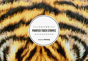 Painted Tiger Pattern Background - бесплатный vector #425497