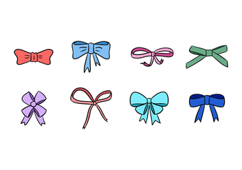 Hair Ribbon Vector Pack - vector gratuit #425677