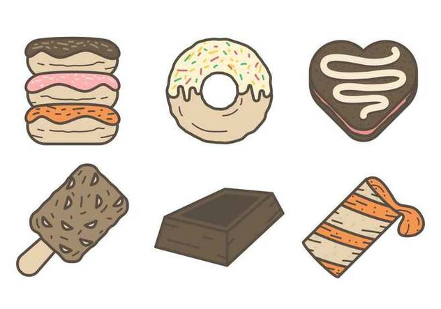 Free Mouthwatering Chocolate Dessert Vectors - Free vector #425747
