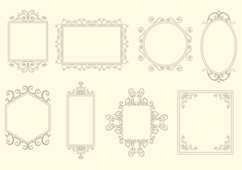 Scrollwork frames element vector - Free vector #425757