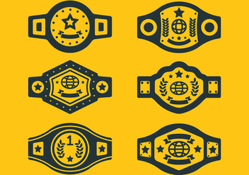 Free Championship Belt Icons Vector - Kostenloses vector #425807