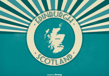 Edinburgh Scotland Retro Illustration - бесплатный vector #425837