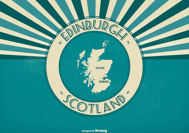 Edinburgh Scotland Retro Illustration - Free vector #425837