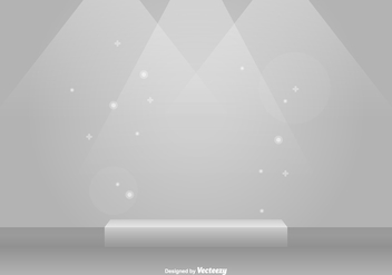 Grey Studio Room Vector Scene - vector #425847 gratis