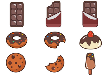 Chocolate Vector Item Pack - vector #425887 gratis