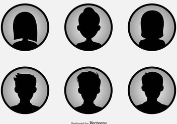 Headshot Vector Icons - бесплатный vector #425947