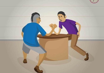 Free Arm Wrestling Illustration - vector gratuit #426047
