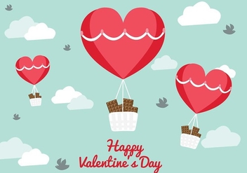 San Valentin Vector Balloon Background - vector gratuit #426257