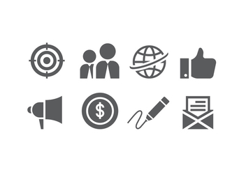 Flat business icons - Free vector #426267