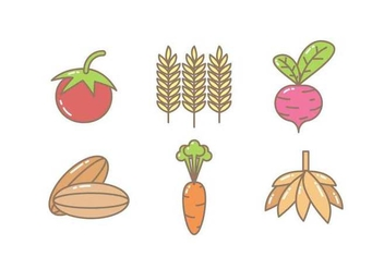 Free Unique Crop Icons Vectors - Free vector #426327