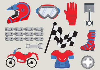 Motor Bike Trail Stuff Vector Pack - Kostenloses vector #426347