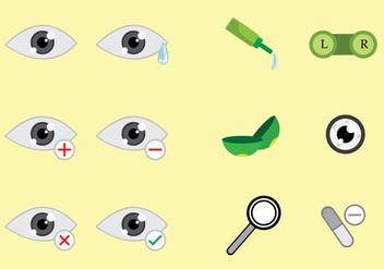 Optometry Icons Vectors - Kostenloses vector #426377