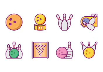 Free Bowling Icon Pack - vector gratuit #426447