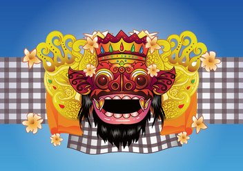 Barong Bali Vector Background - Free vector #426487