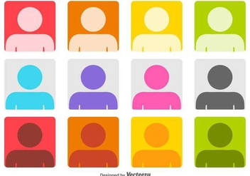 Colorful Headshot Vector Icons - vector gratuit #426507