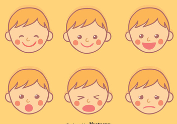 Hand Drawn Baby Face Expression vector - Free vector #426557
