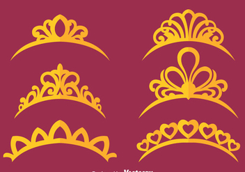 Princess Crown Vectors - бесплатный vector #426577