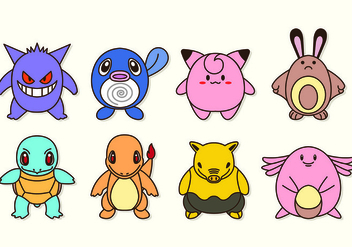 Set Icon Characters Of Pokemon - vector gratuit #426637