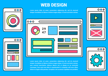 Free Web Layout Vector Background - Free vector #426667