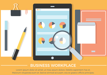Free Flat Workspace Vector Background - Free vector #426687
