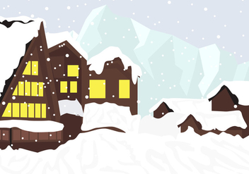 Chalet In The Mountains - Free vector #426697