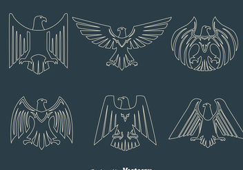Eagle Seal Line Vectors - Free vector #426797