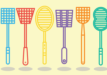 Free Fly Swatter Icons Vector - vector #426847 gratis