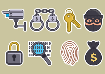 Theft Vector Icons Set - vector #426897 gratis
