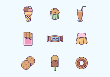 Chocolate Sweets & Drinks Vector Set - vector gratuit #426907