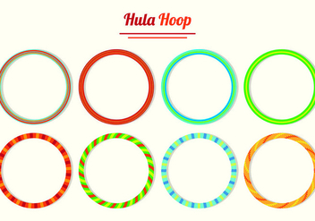 Set Of Hula Hoop Vectors - Free vector #426937