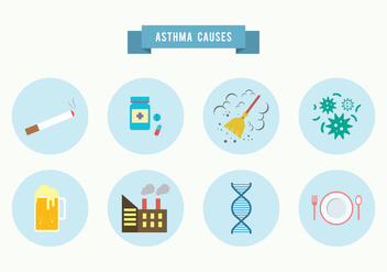 Asthma Causes Vector - Free vector #427067