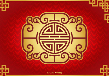 Beautiful Chinese Decorative Background - бесплатный vector #427097