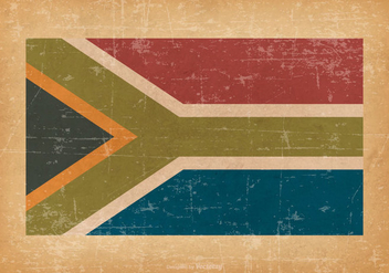 South Africa Flag on Grunge Background - vector #427107 gratis