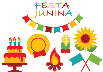 Festa Junina Icon Vector - vector #427117 gratis
