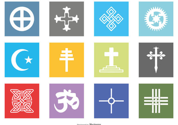 Religious Vector Icon Set - Kostenloses vector #427137