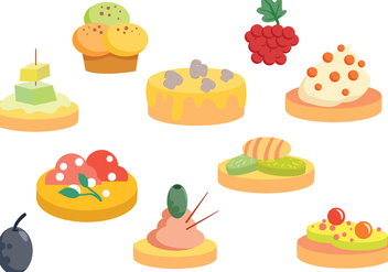 Free Finger Food Vectors - бесплатный vector #427167