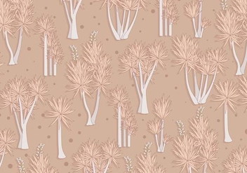 Yucca Pattern Brown Color Vector - Kostenloses vector #427217
