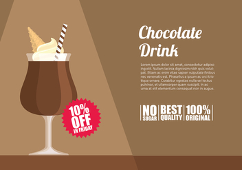 Chocolate Drink Template Free Vector - бесплатный vector #427227