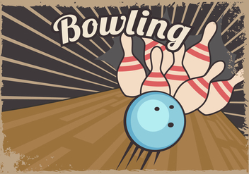 Retro Bowling Lane Template - vector gratuit #427257
