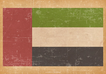 United Arab Emirates Flag on Grunge Background - Free vector #427287