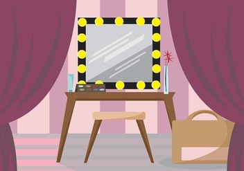 Feminine Dressing Room Vector Scene - бесплатный vector #427307