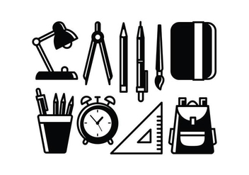 Free School Supplies Vectors - vector #427337 gratis