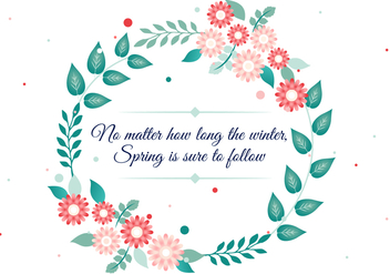 Free Vector Spring Flower Wreath - Kostenloses vector #427367