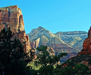 Sunrise, Below Angels Landing, Zion NP 2014 - бесплатный image #427407