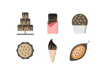 Free Delicious Chocolate Cake and Sweet Vectors - vector #427457 gratis