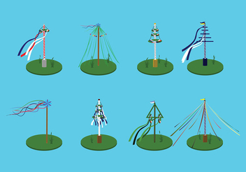 Various Maypole Free Vector - Free vector #427467