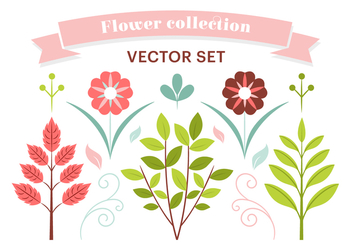 Free Spring Flower Vector Elements - Kostenloses vector #427487